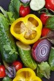 Υγρά λαχανικά με τα σταγονίδια νερού Στοκ φωτογραφία με δικαίωμα ελεύθερης χρήσης