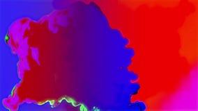 Υγρά χρώματα Slowmo απόθεμα βίντεο