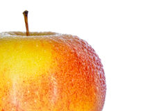 Υγρά, ώριμα μήλα που απομονώνονται σε ένα άσπρο υπόβαθρο Στοκ φωτογραφία με δικαίωμα ελεύθερης χρήσης