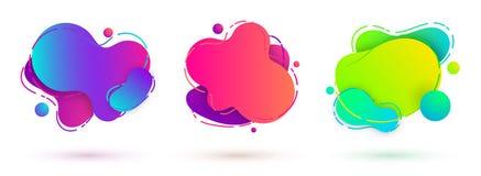 Υγρά amoeba σχεδίου εμβλήματα διανυσματική απεικόνιση