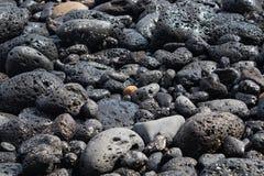 Υγρές ζωηρόχρωμες ηφαιστειακές πέτρες στην ακτή - εικόνα στοκ φωτογραφία με δικαίωμα ελεύθερης χρήσης
