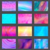 Υγρές καλύψεις παφλασμών χρώματος καθορισμένες Σύνολο σύγχρονων μαρμάρινων splatters Στοιχεία σχεδίου για την αφίσα, κάλυψη, κάρτ Στοκ Εικόνες