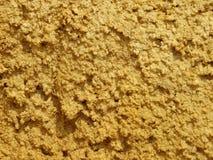 Υγρή άμμος με το yellow-orange χρώμα Στοκ Φωτογραφίες
