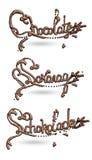 Υγρή εγγραφή σοκολάτας Στοκ Εικόνα
