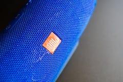 Υγρός μπλε ασύρματος ομιλητής JBL στοκ φωτογραφία με δικαίωμα ελεύθερης χρήσης
