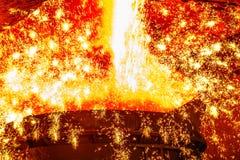 Υγρός σίδηρος από την κουτάλα Στοκ εικόνες με δικαίωμα ελεύθερης χρήσης