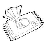Υγρός σκουπίστε την περίληψη εικονιδίων πακέτων διανυσματική απεικόνιση