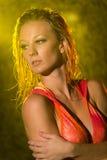 Υγρός φανείτε γυναίκα Στοκ φωτογραφία με δικαίωμα ελεύθερης χρήσης