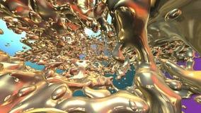 Υγρός χρυσός Στοκ φωτογραφία με δικαίωμα ελεύθερης χρήσης