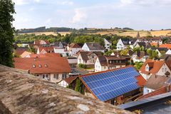 Υγρότερο ιστορικό χωριό hesse Γερμανία Στοκ εικόνα με δικαίωμα ελεύθερης χρήσης