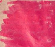 Υγρό έγγραφο, ρόδινο υπόβαθρο watercolour σύσταση watercolor Στοιχείο σχεδίου διακοσμήσεων κατασκευασμένο σκηνικό Τετραγωνικό έμβ Στοκ Φωτογραφίες