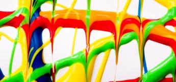 Υγρό έμβλημα χρωμάτων Στοκ φωτογραφία με δικαίωμα ελεύθερης χρήσης