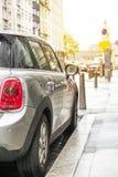 Υγρό αυτοκίνητο μετά από τη βροχή στο Λουξεμβούργο Στοκ Εικόνα