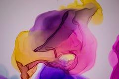 Υγρό αφηρημένο υπόβαθρο μελανιού r Χρωματισμένη χέρι σύσταση μελανιού Η σύσταση του μελανιού οινοπνεύματος r διανυσματική απεικόνιση