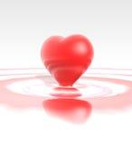 υγρό κόκκινο καρδιών Στοκ Εικόνες