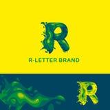 Υγρό λογότυπο Ρ επιστολών απεικόνιση αποθεμάτων