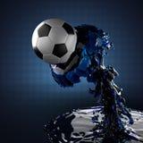 υγρό ποδόσφαιρο σφαιρών Στοκ φωτογραφία με δικαίωμα ελεύθερης χρήσης