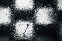Υγρό ραγισμένο γυαλί. Στοκ Εικόνες