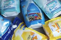 Υγρό σαπούνι Elkos από Edeka, γερμανικός λιανοπωλητής στοκ εικόνες