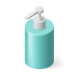 Υγρό σαπούνι Isometric διανυσματική απεικόνιση