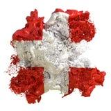 Υγρό σημαιών της Ελβετίας ελεύθερη απεικόνιση δικαιώματος