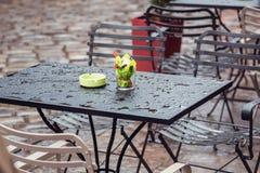 Υγρό τραπεζάκι σαλονιού μετά από τη βροχή Στοκ εικόνα με δικαίωμα ελεύθερης χρήσης