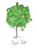υγρό δέντρο Στοκ Φωτογραφίες
