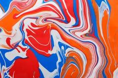 Υγρό marbling ακρυλικό υπόβαθρο χρωμάτων Ρευστό που χρωματίζει την αφηρημένη σύσταση Στοκ εικόνες με δικαίωμα ελεύθερης χρήσης