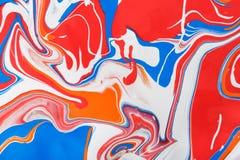 Υγρό marbling ακρυλικό υπόβαθρο χρωμάτων Ρευστό που χρωματίζει την αφηρημένη σύσταση ελεύθερη απεικόνιση δικαιώματος
