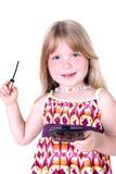 υγρό mascara κοριτσιών μικρό Στοκ φωτογραφίες με δικαίωμα ελεύθερης χρήσης