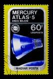 Υδράργυρος-άτλαντας 5, Airpost, διαστημικό σκάφος και έμβλημα απόλλωνα Σογιούζ ser στοκ φωτογραφία