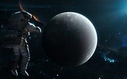 Υδράργυρος πλανητών στο μπλε φως ηλιακό σύστημα Αφροδίτη μονοπατιών υδραργύρου γήινης εστίασης ψαλιδίσματος Τέχνη επιστημονικής φ στοκ εικόνα με δικαίωμα ελεύθερης χρήσης