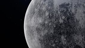 Υδράργυρος πλανητών τρισδιάστατη απεικόνιση με τη λεπτομερή επιφάνεια πλανητών στοκ εικόνες
