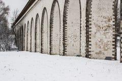 Υδραγωγείο Rostokinsky Αψίδα πέρα από τον ποταμό Yauza Στοκ εικόνες με δικαίωμα ελεύθερης χρήσης