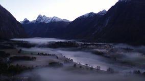 Υδρονέφωση και ομίχλη στη Νορβηγία απόθεμα βίντεο