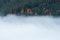 Υδρονέφωση πρωινού στα βουνά στοκ εικόνες με δικαίωμα ελεύθερης χρήσης