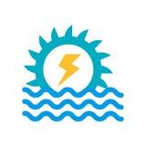 Υδρο δύναμης σημάδι και σύμβολο εικονιδίων διανυσματικό που απομονώνονται στο άσπρο backgr ελεύθερη απεικόνιση δικαιώματος