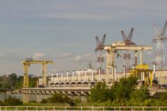 Υδρο εγκαταστάσεις ηλεκτρικής δύναμης στον ποταμό Danuber στοκ εικόνες