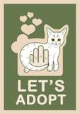 Υιοθέτηση γατών Στοκ Εικόνες