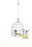 Υιοθετημένος στο κλουβί - ελευθερία και ευκαιρία Στοκ φωτογραφία με δικαίωμα ελεύθερης χρήσης