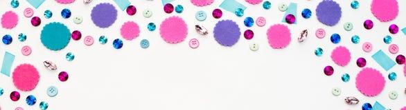Υλικά εμβλημάτων για τα χόμπι και το δημιουργικό σχέδιο Στοκ Εικόνα