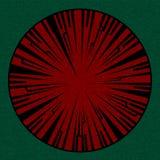 Υλικά κατασκευασμένα κόκκινα εκλεκτής ποιότητας σύνορα σε πράσινο Στοκ Φωτογραφίες