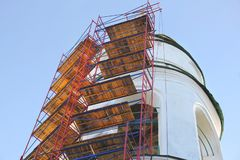 Υλικά σκαλωσιάς Αποκατάσταση εκκλησιών στοκ φωτογραφίες με δικαίωμα ελεύθερης χρήσης