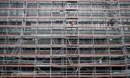 Υλικά σκαλωσιάς εργοτάξιων οικοδομής στοκ φωτογραφίες