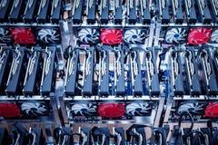Υλικό ΤΠ Επιχειρησιακός εξοπλισμός Cryptocurrency Στοκ Εικόνα