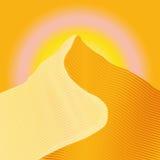 δυναμική υψηλή άμμος σειράς αμμόλοφων Στοκ φωτογραφίες με δικαίωμα ελεύθερης χρήσης