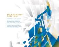 Δυναμικό διάνυσμα του Derrick πετρελαίου Στοκ εικόνα με δικαίωμα ελεύθερης χρήσης