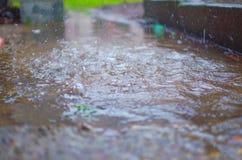 δυνατή βροχή Στοκ Φωτογραφία