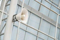 δυνατό λευκό ομιλητών Στοκ Φωτογραφία
