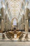 ΥΟΡΚΗ, UK - ΣΤΙΣ 30 ΜΑΡΤΊΟΥ: Η περιοχή σηκών στο μοναστηριακό ναό της Υόρκης. Η καθέδρα Στοκ φωτογραφία με δικαίωμα ελεύθερης χρήσης